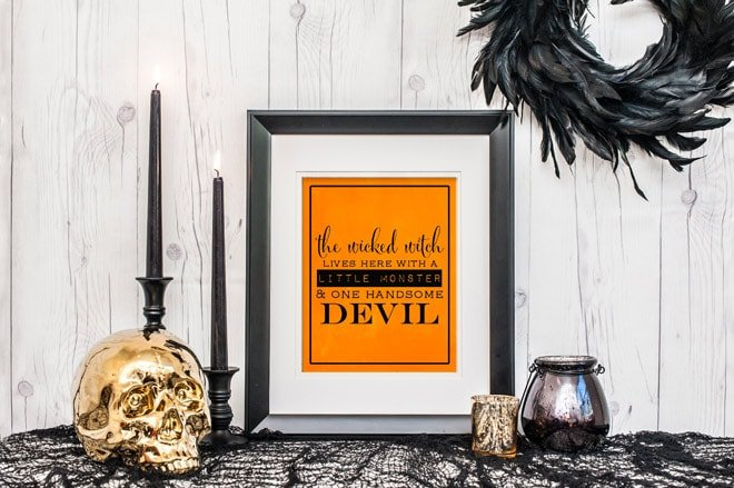 Love this free wicked witch printable (free!) for Halloween decorations!