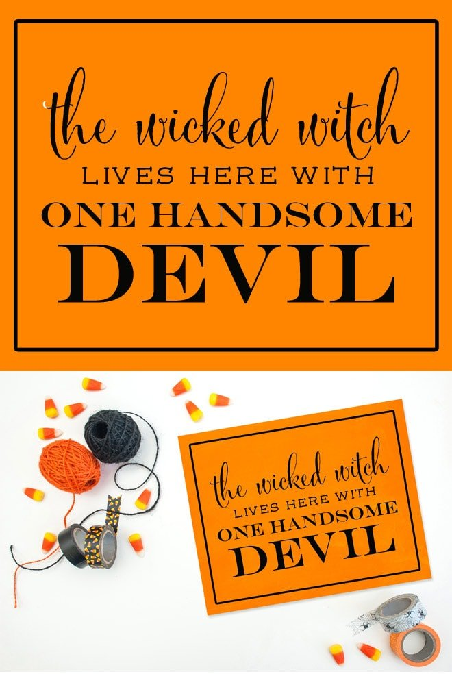 graphic relating to Halloween Printable Decorations called The Wicked Witch Life Right here Printable Totally free! Pizzazzerie