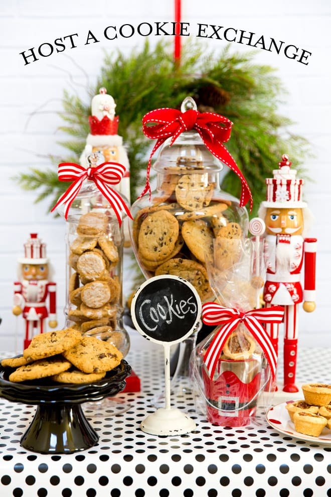 how to throw a cookie exchange party this holiday season free printable recipe card - Christmas Cookie Exchange Party