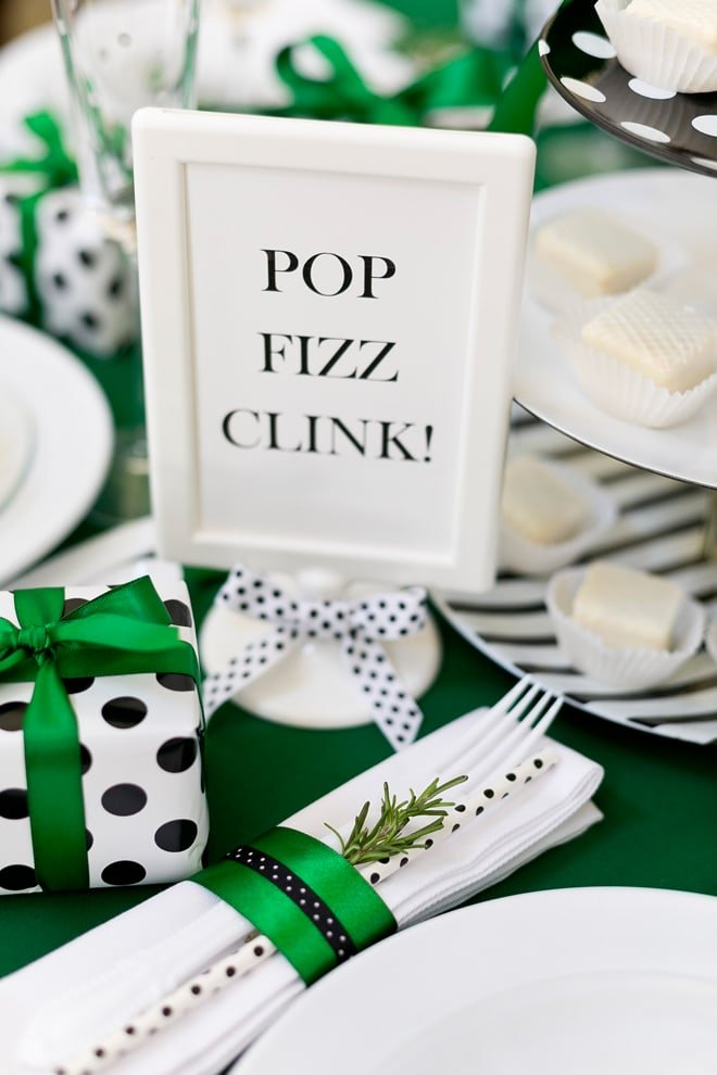 kate spade inspired holiday party table