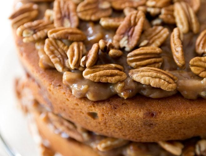 Twist on a Thanksgiving Classic: Pecan Pie Cake
