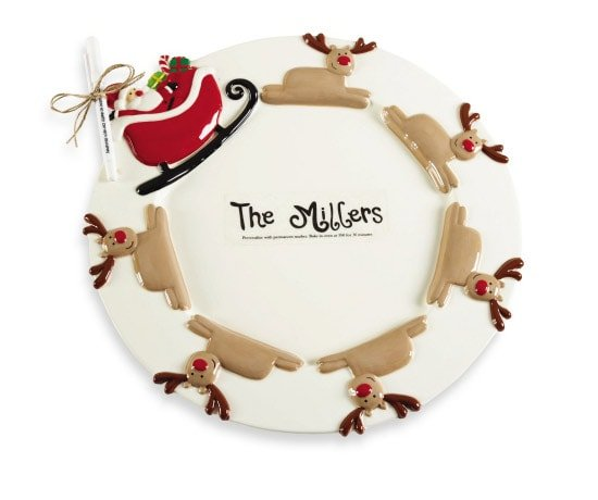 Reindeer Cookie Tray for Christmas