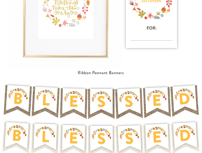 2014 Free Thanksgiving Printable Set