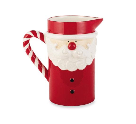 Christmas Santa Pitcher