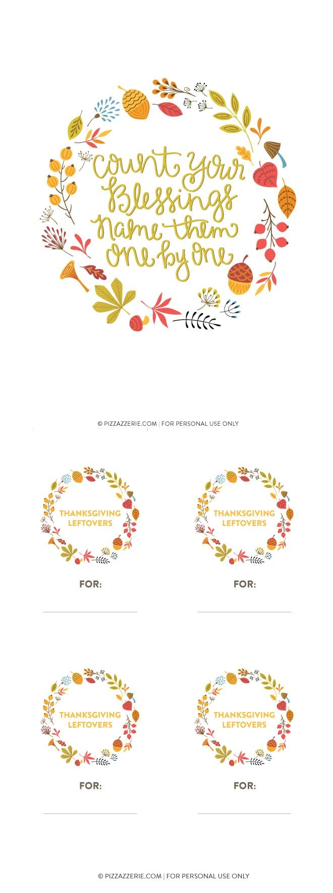 image relating to Printable Thanksgiving Banners identified as 2014 Free of charge Thanksgiving Printable Fastened Pizzazzerie