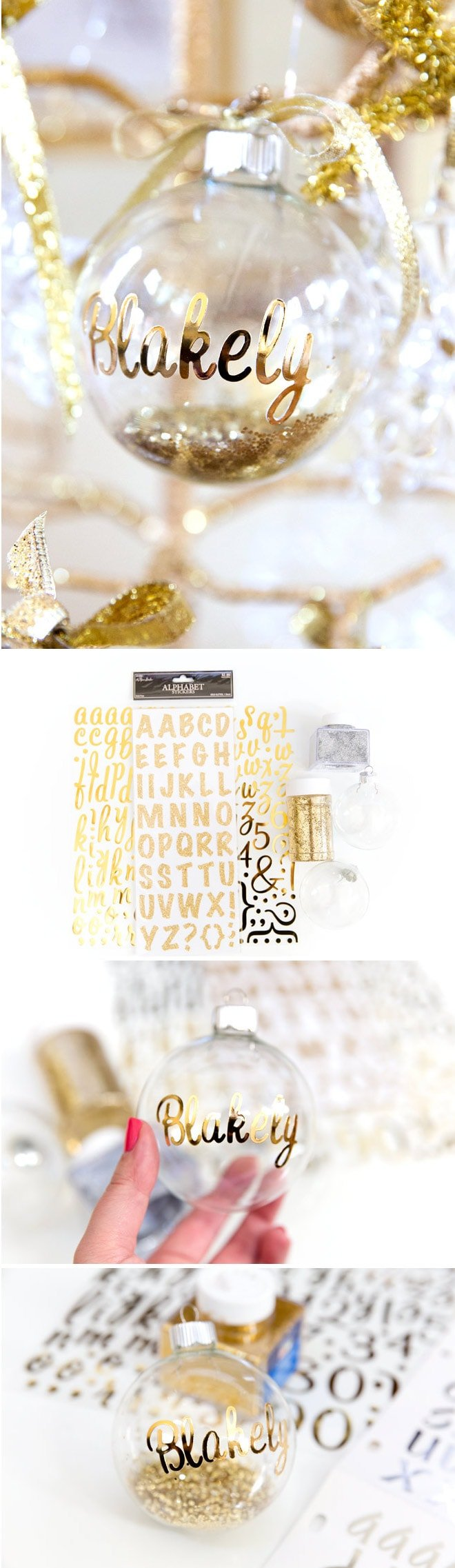 Diy personalized ornaments for christmas pizzazzerie for Diy monogram gifts