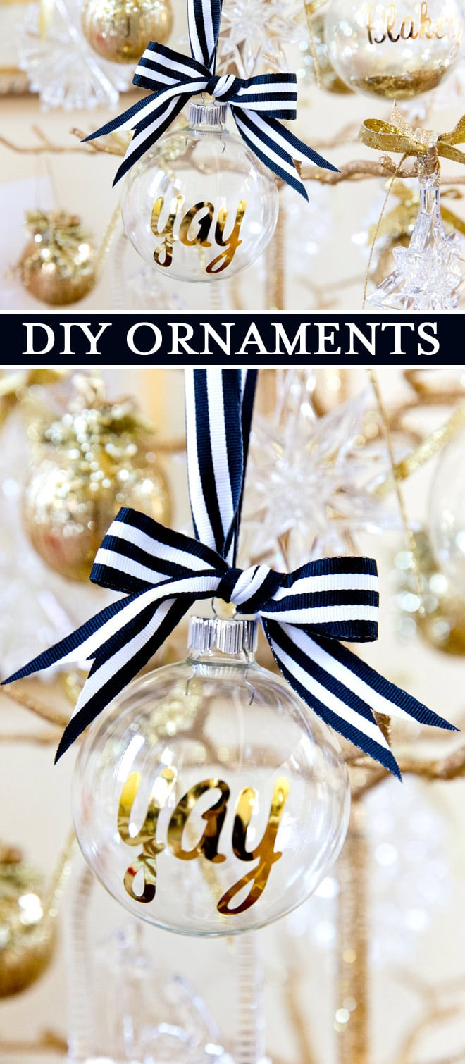 DIY Personalized Ornaments for Christmas! | Pizzazzerie