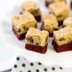 Red Velvet Chocolate Chip Cookie Bars