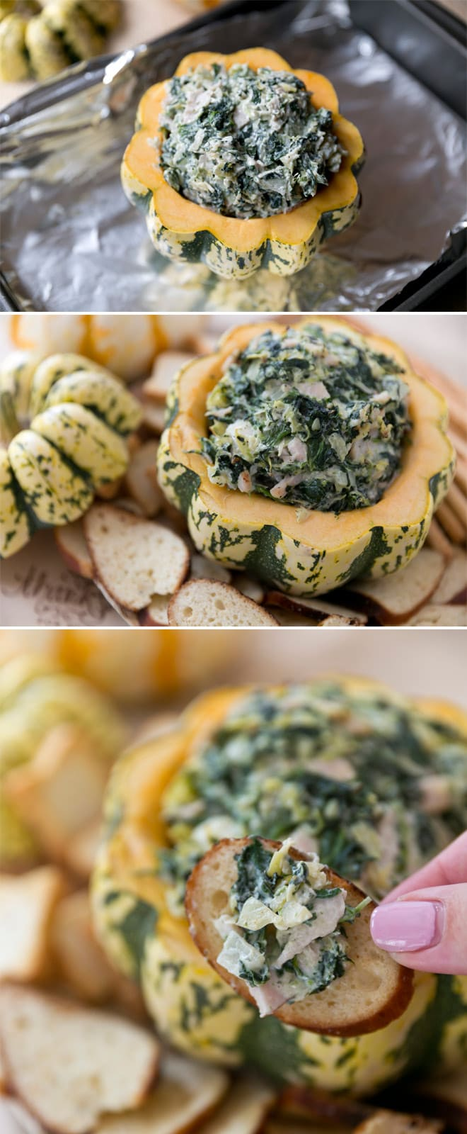 The best turkey spinach and artichoke dip! Must make for Thanksgiving recipe!
