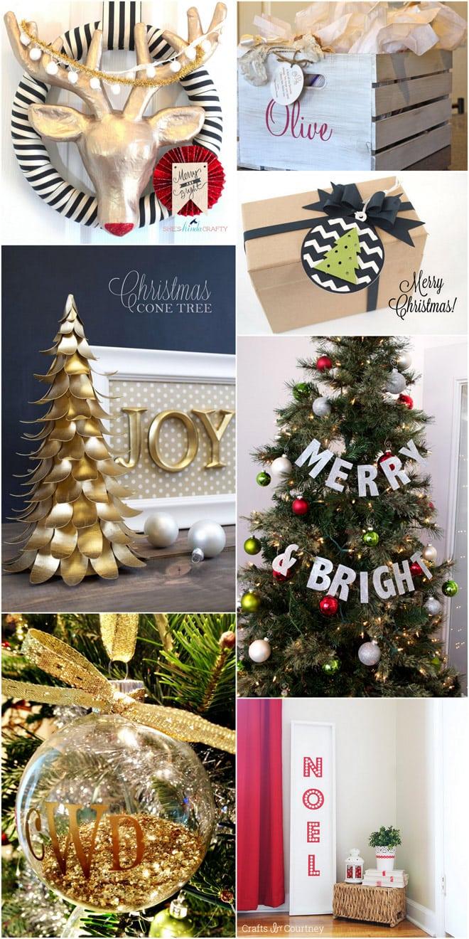 Christmas DIY crafts made with the Silhouette Cameo! Pizzazzerie.com