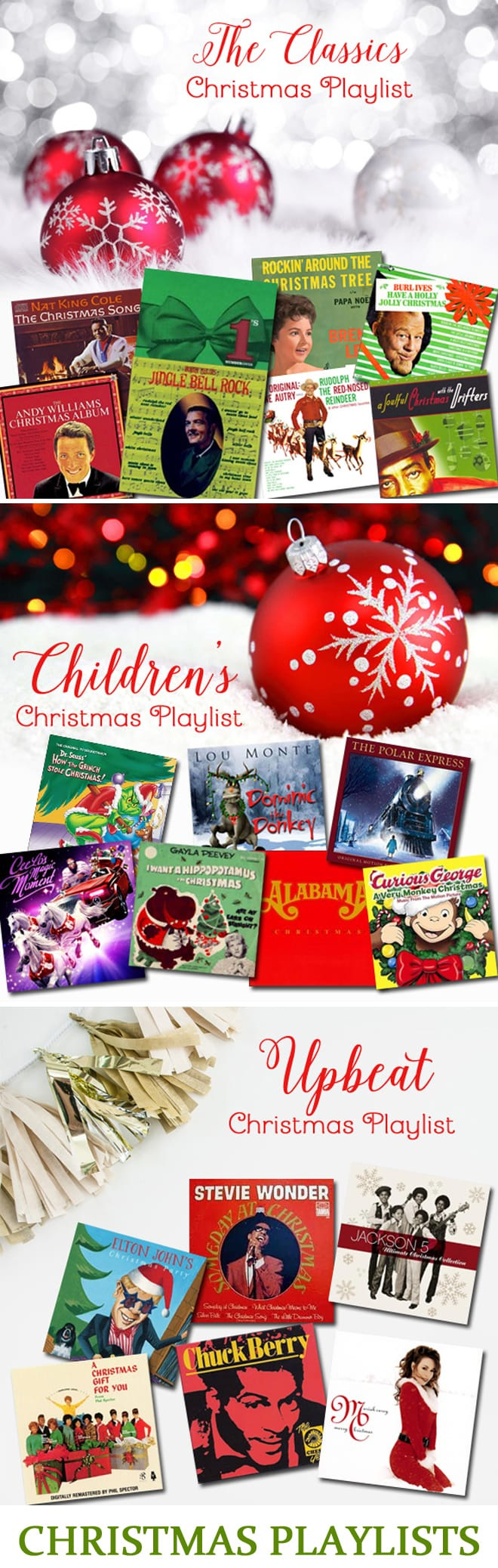 Christmas Music Playlists! Pizzazzerie.com