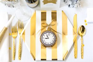 Gold and White New Year's Eve Party | Pizzazzerie.com
