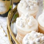 New Year's Eve Dessert: Bubbly Champagne Cupcakes