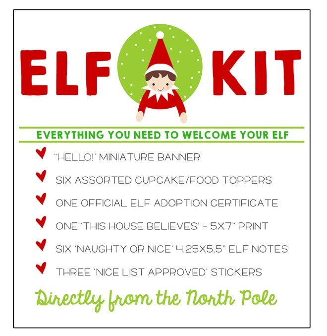 Elf on the Shelf Free Printable Kit! DOWNLOAD and save!