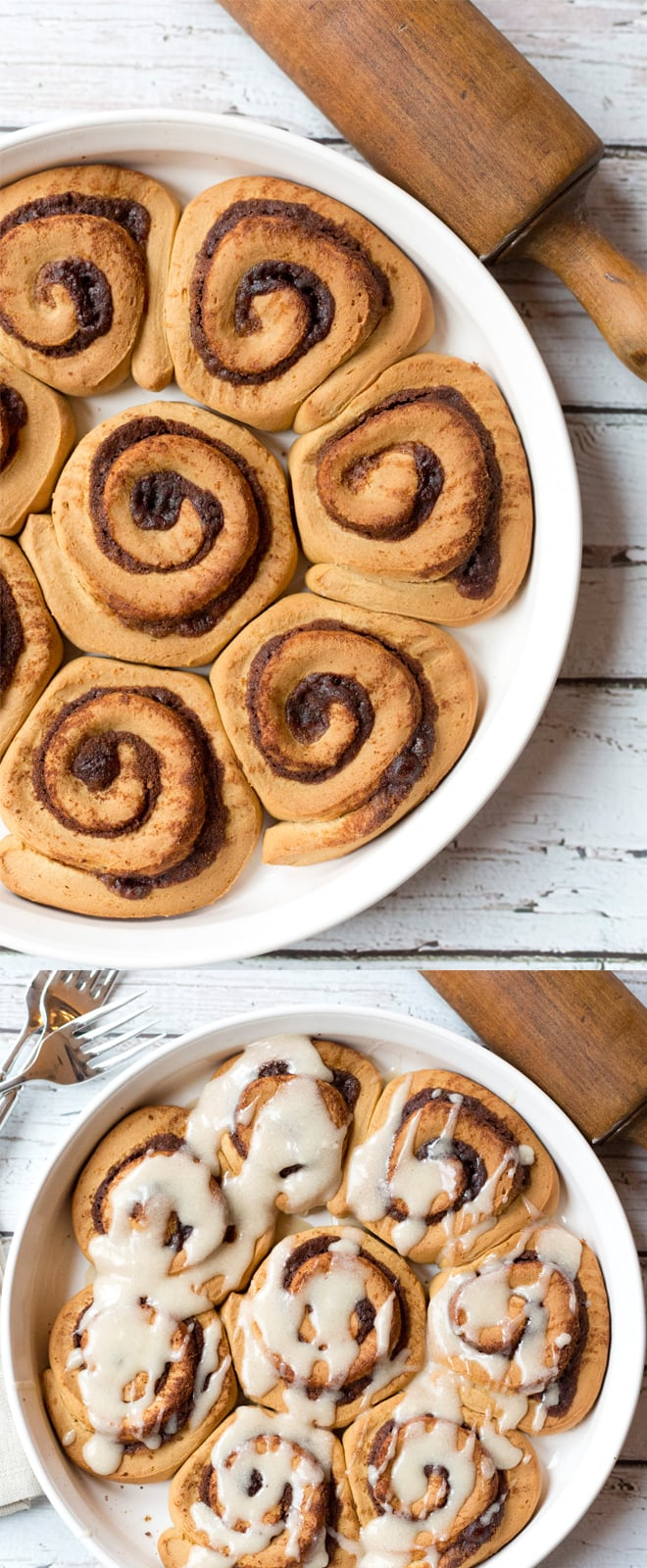 Totally amazing gingerbread cinnamon rolls!