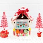 Creative way to give a gift card! Gingerbread house with a gift card inside.