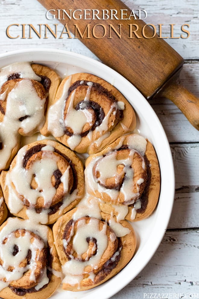 Gingerbread Cinnamon Rolls, perfect Christmas morning dessert!