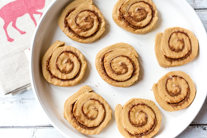 The best gingerbread cinnamon rolls.