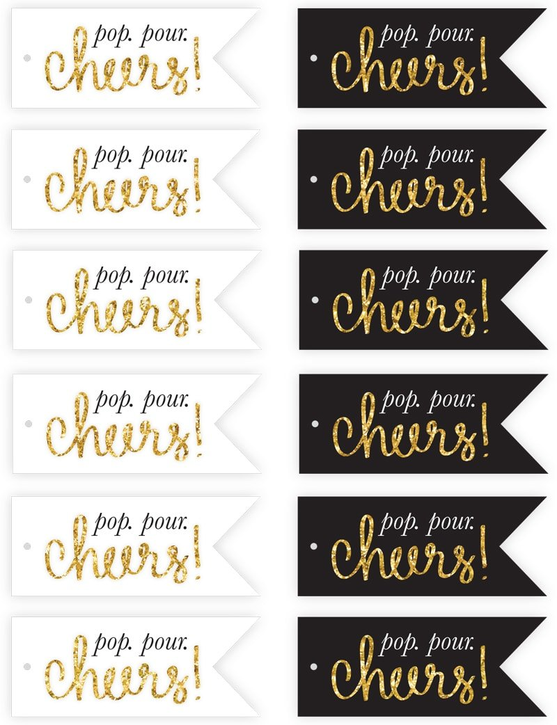 pizzazzeriecom free new years eve champagne flute tags printables pizzazzeriecom