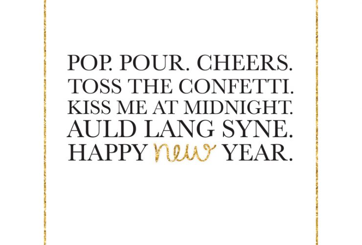 Free New Year's Eve Print + Tags