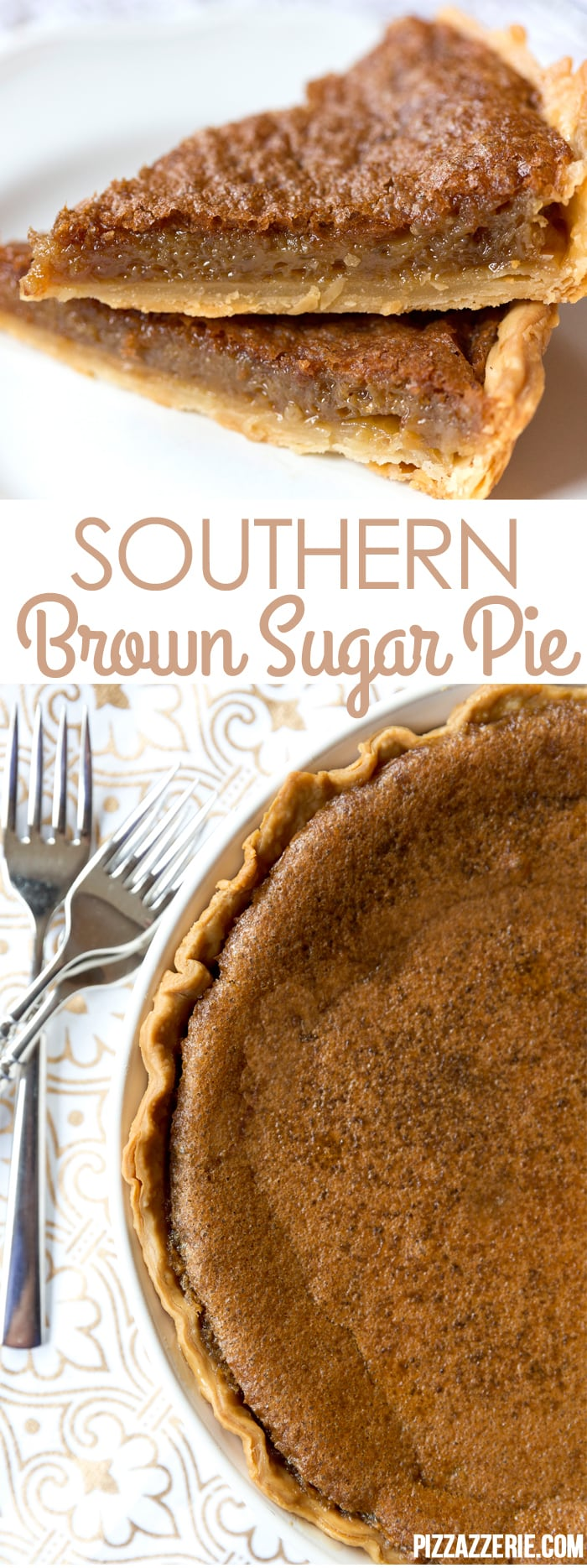Southern Brown Sugar Pie! If you've never tried this brown sugar pie, it's a must!
