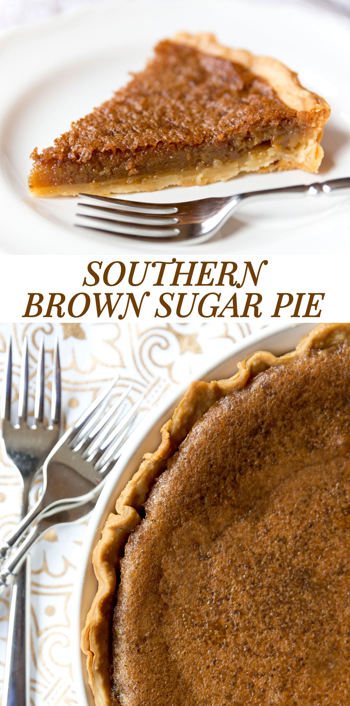 Southern Brown Sugar Pie Recipe
