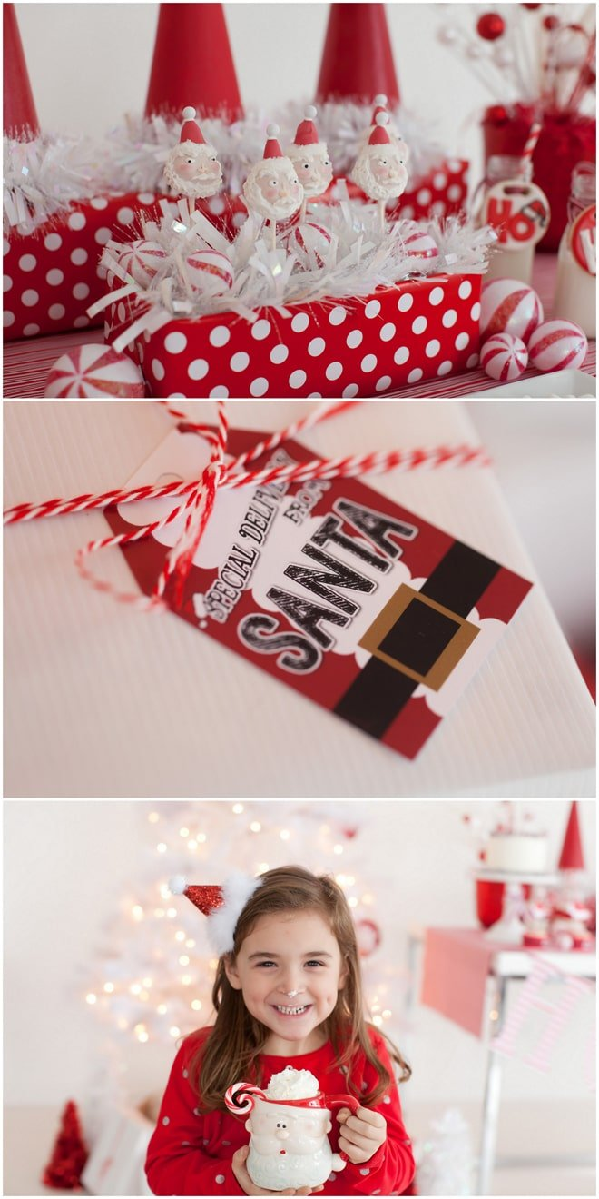 Adorable Santa themed Christmas party!