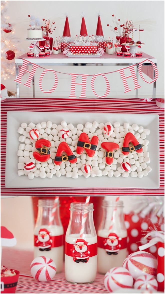 Adorable Red White Santa Christmas Party Pizzazzerie