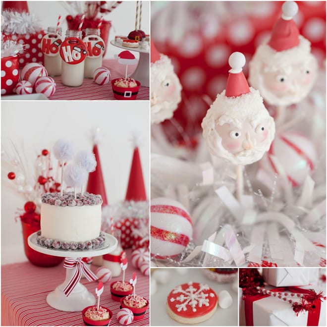christmas party themes adorable white santa pizzazzerie 31059