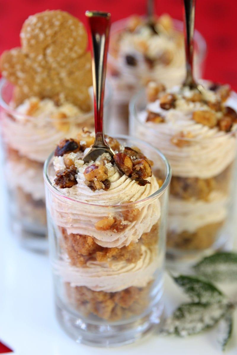 Gingerbread Hazelnut Crunch Trifles - SO good!