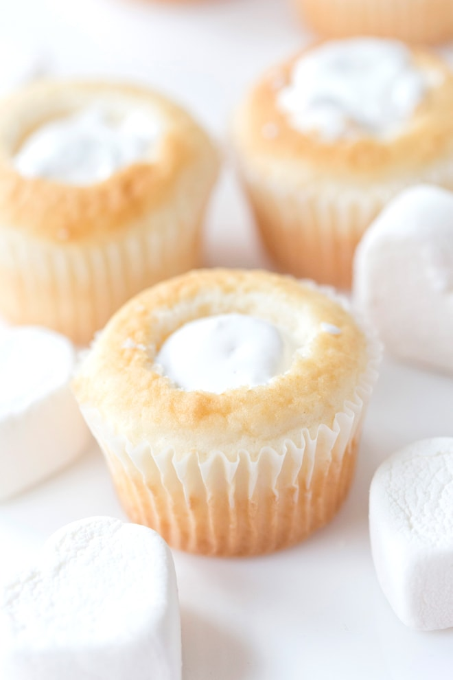 Marshmallow Filled Cupcakes by Pizzazzerie.com