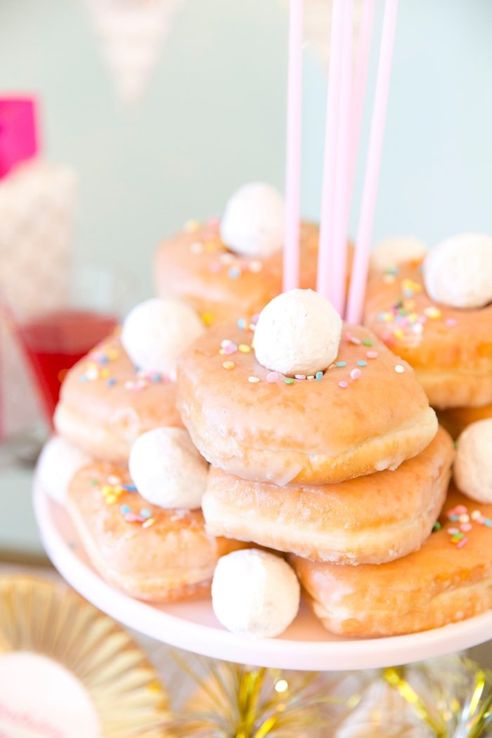 Donut Cake for a Birthday Brunch