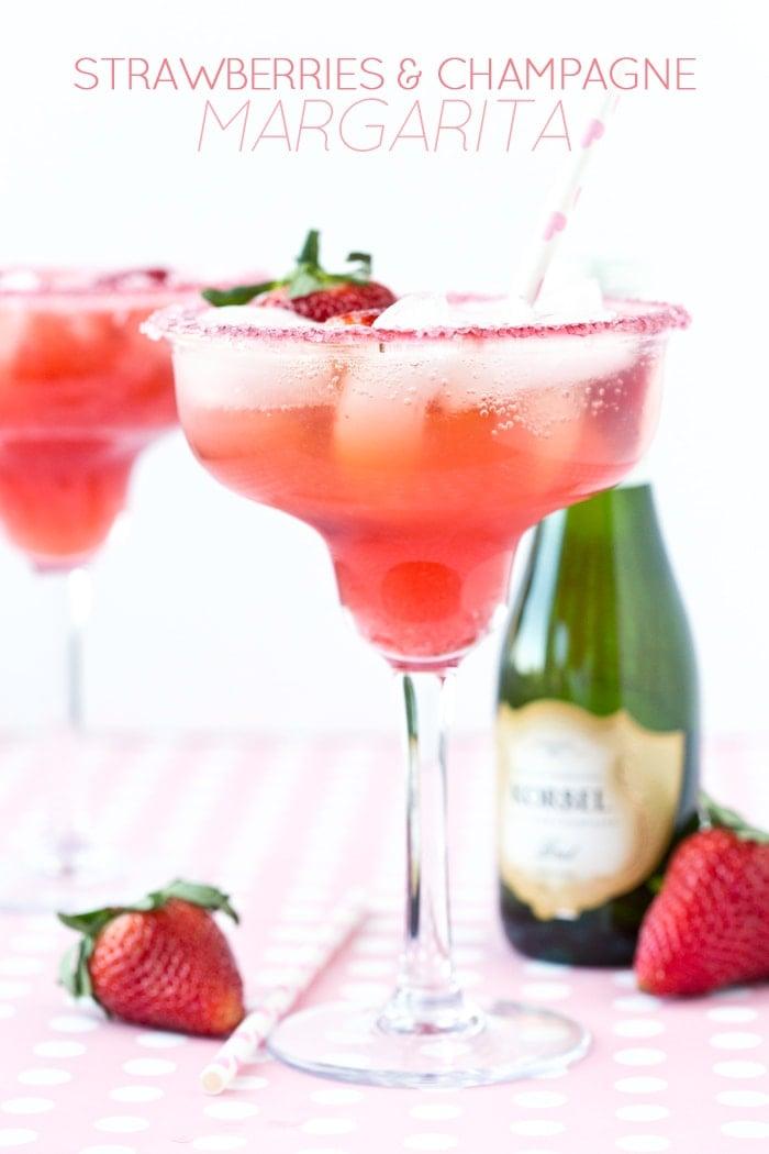 Valentine's Day: Strawberries and Champagne Margarita ...