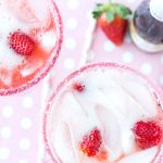 Valentine's Day: Strawberries and Champagne Margarita