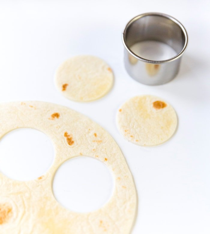 Make mini tortilla rounds!