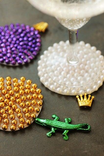 Mardi Gras DIY Coasters