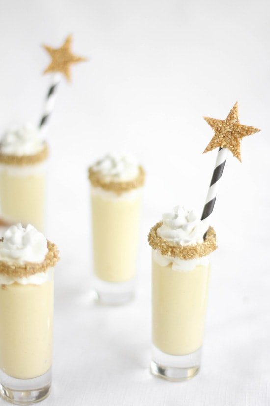 Champagne Gold Star Shooters for the Oscars