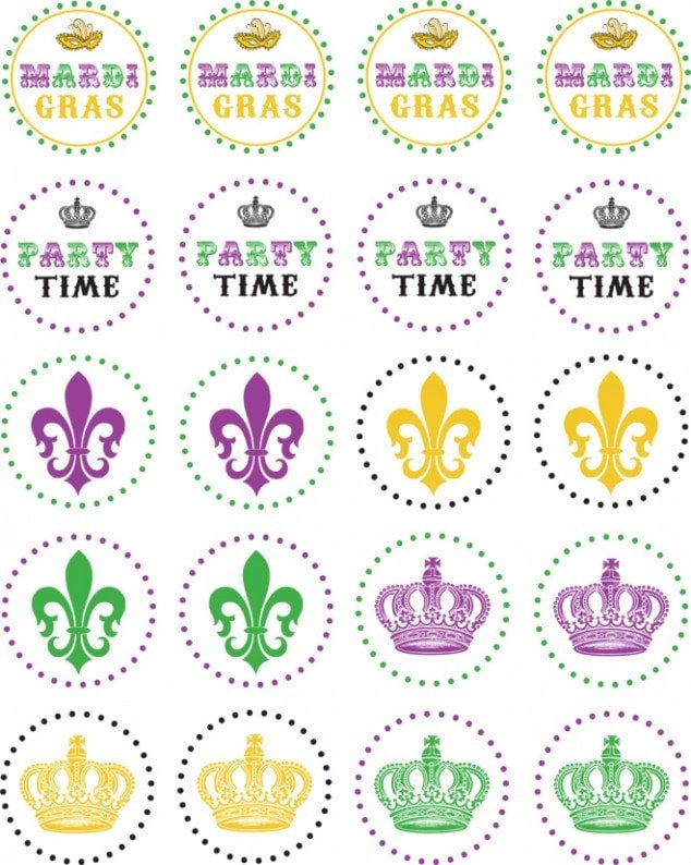 Mardi Gras Party Printables