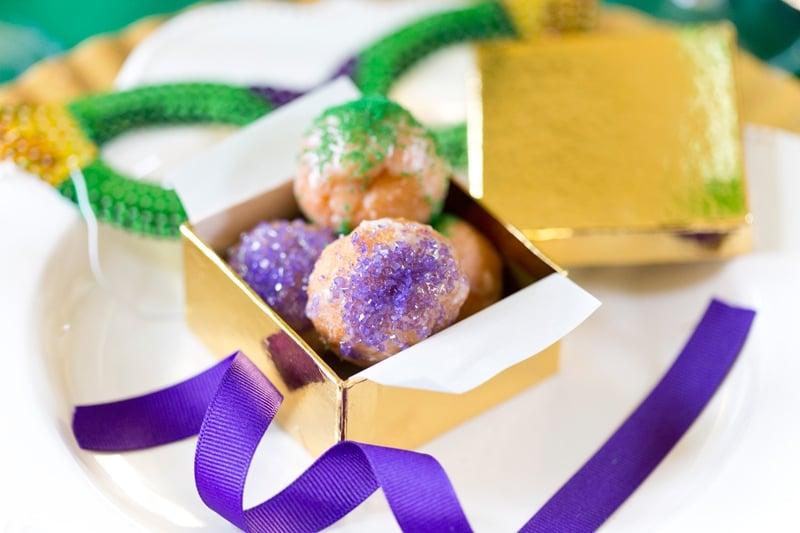 Mini King Cake Donut Holes Pizzazzerie.com