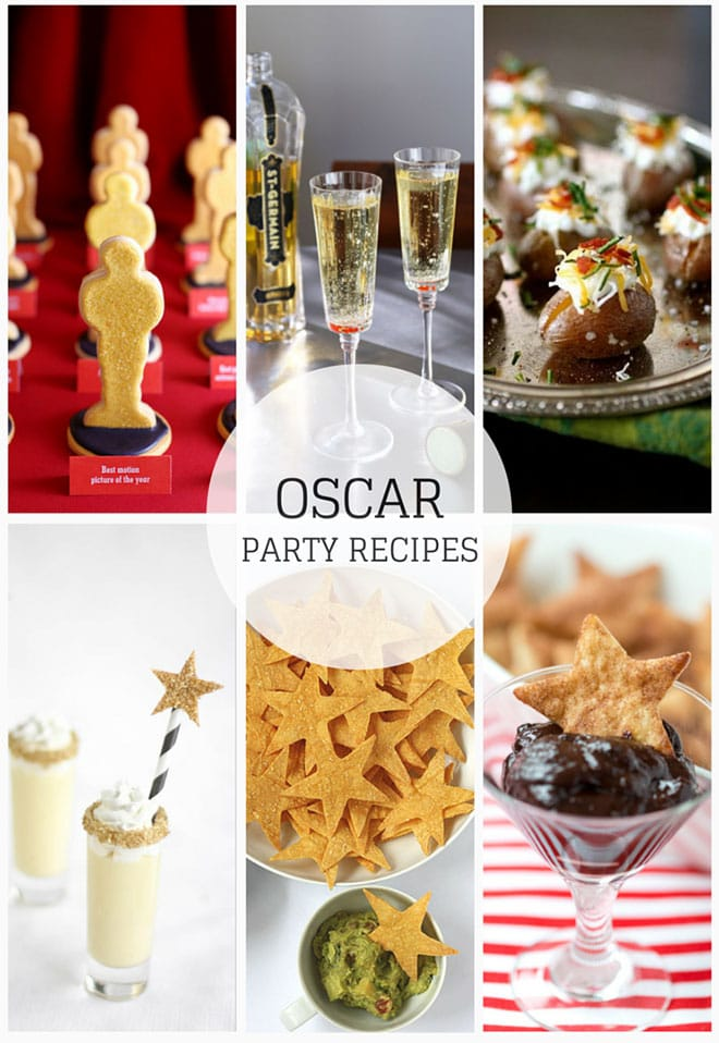 Bubbles and Bites for Oscar Night Celebrate the biggest night in Hollywood with movie-themed menus, splurge and steal Champagne picks, and recipes for festive hors d'oeuvres and easy desserts.