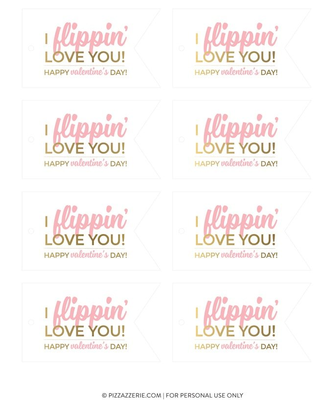"""I Flippin' Love You"" Valentine's Printable 