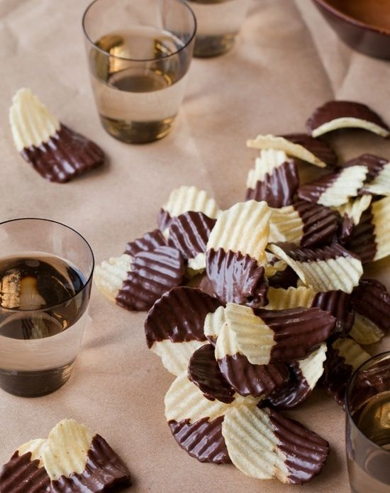 Chocolate Covered Potato Chips and other Oscar Viewing Party Foods