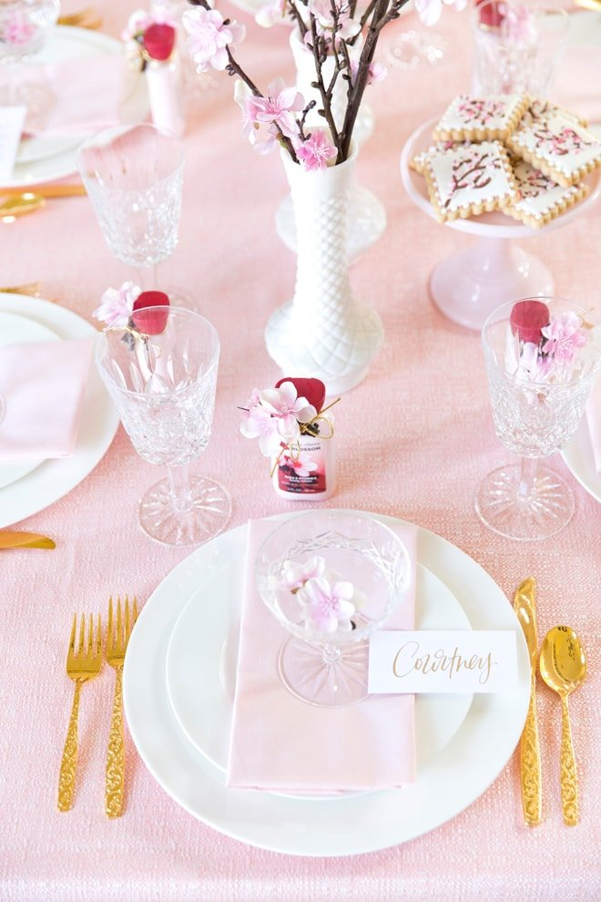 Japanese Cherry Blossom Tablescape Inspiration