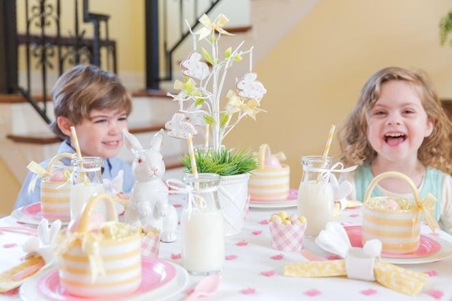 Kids' Easter Tablescape, Pizzazzerie.com for HGTV