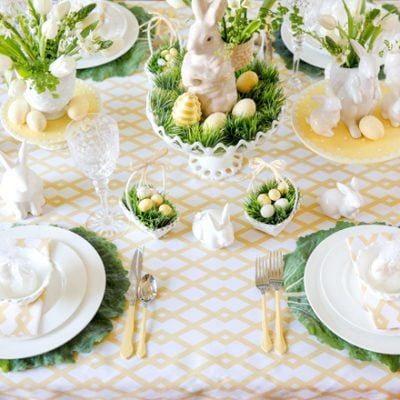 Easter Dinner Tablescape and Inspiration | Pizzazzerie.com for HGTV