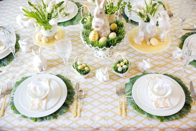Easter Tablescapes for HGTV!