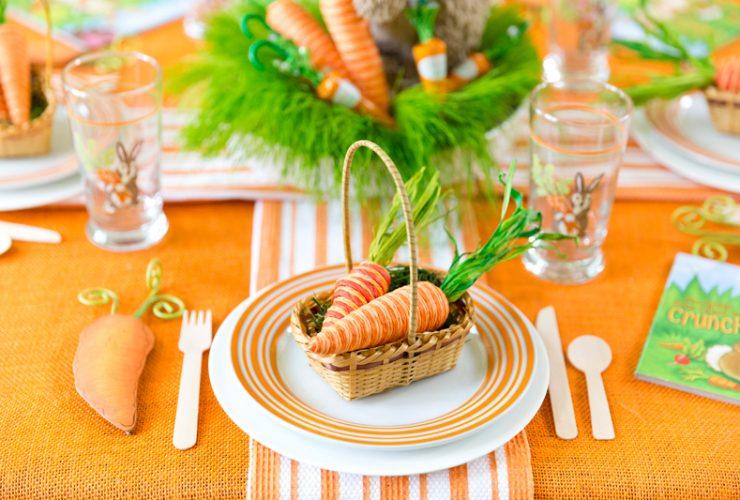 Bright Orange & Green Easter Party