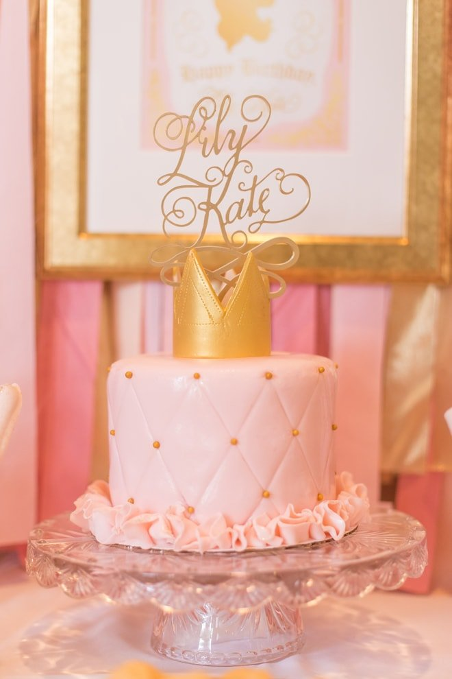 Pink and Gold Princess 3rd Birthday Party! | Pizzazzerie