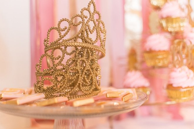 Pink and Gold Princess Party Details |  Pizzazzerie.com