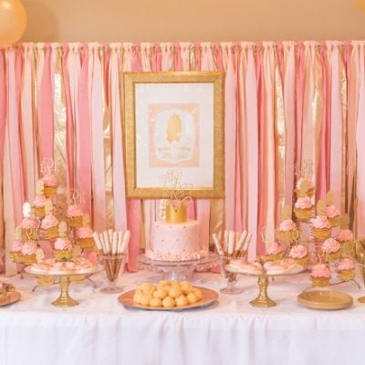 Pink and Gold Princess Party Details   Pizzazzerie.com